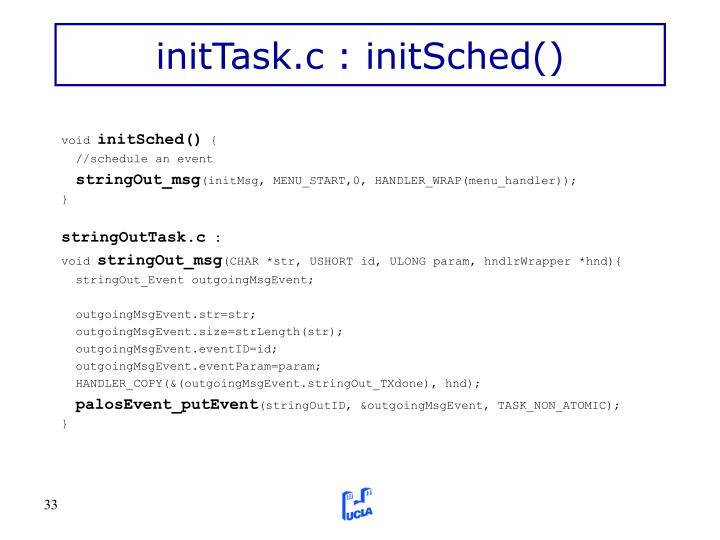 initTask.c : initSched()