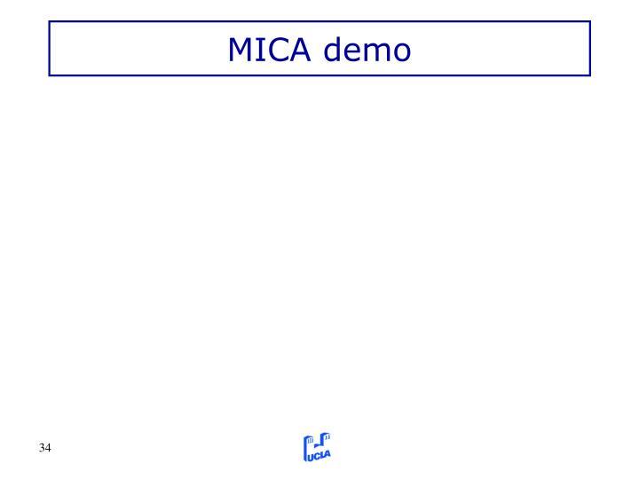 MICA demo