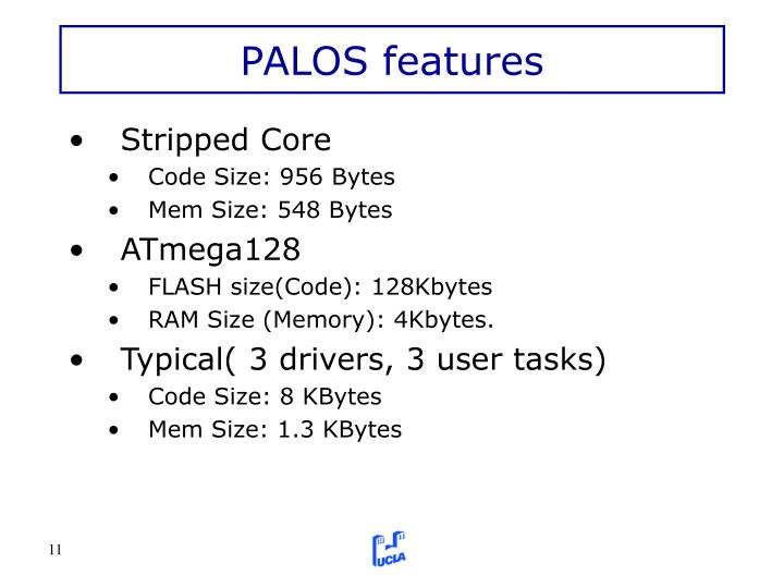 PALOS features