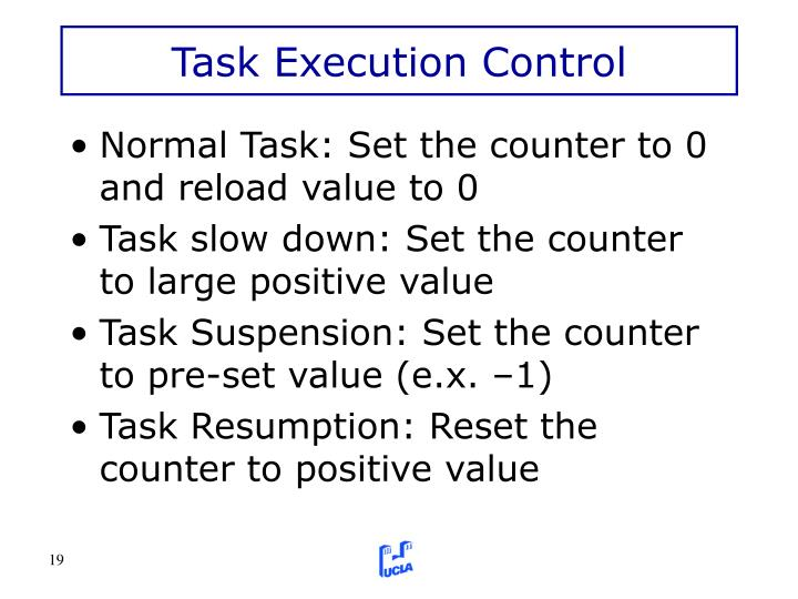 Task Execution Control