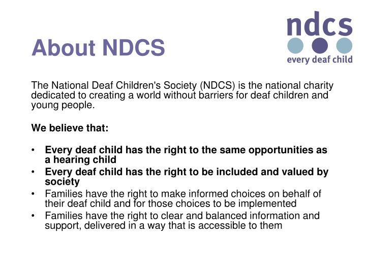 About NDCS