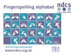 fingerspelling alphabet