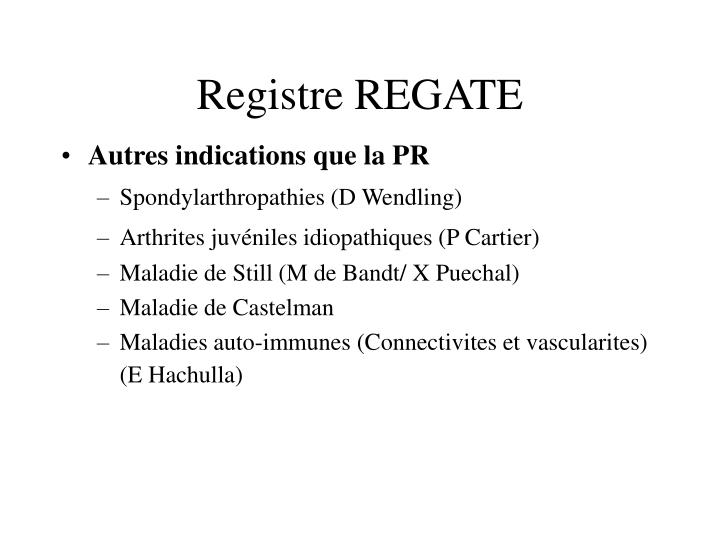 Registre REGATE