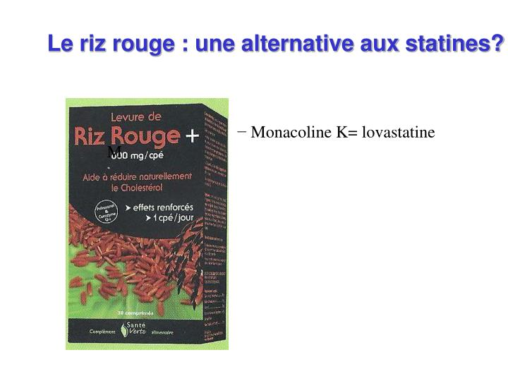 Le riz rouge : une alternative aux statines?