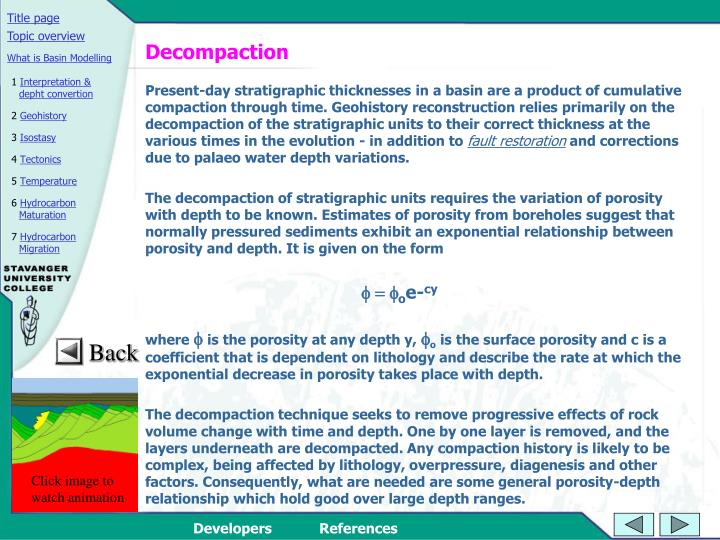 Decompaction