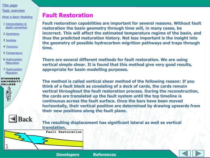 Fault Restoration