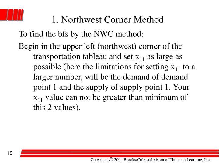 1. Northwest Corner Method
