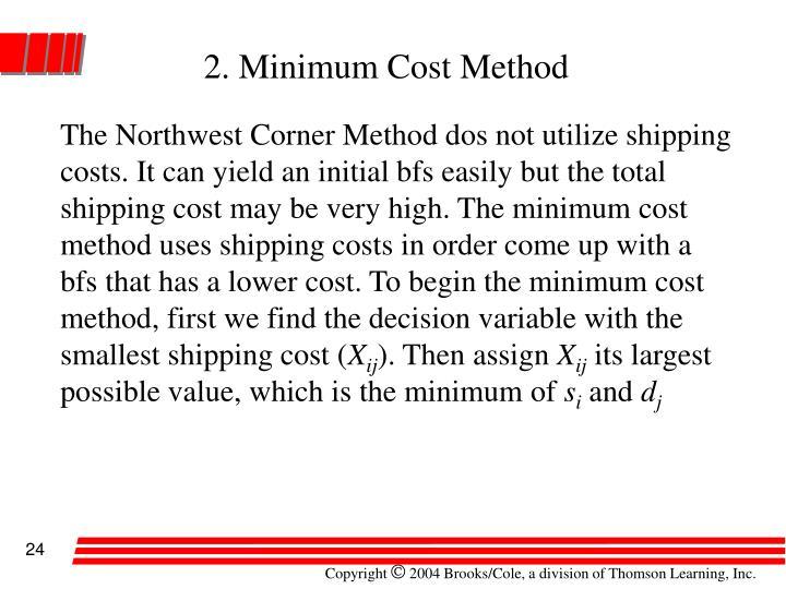 2. Minimum Cost Method