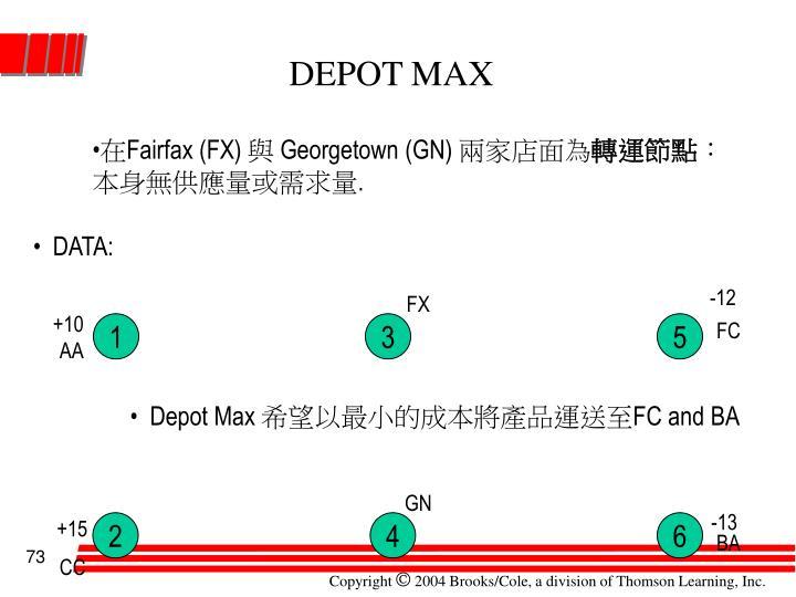 DEPOT MAX