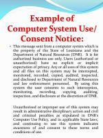 example of computer system use consent notice
