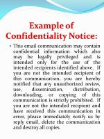 example of confidentiality notice