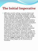 the initial imperative