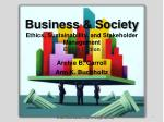 business society ethics sustainability and stakeholder management eighth edition