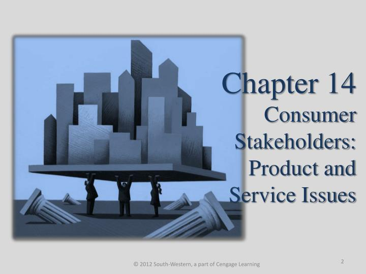 Chapter 14 consumer stakeholders product and service issues