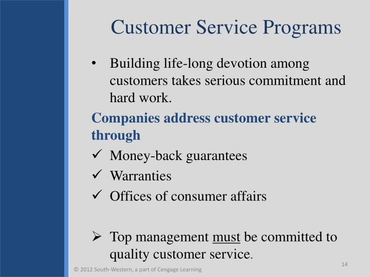 Customer Service Programs