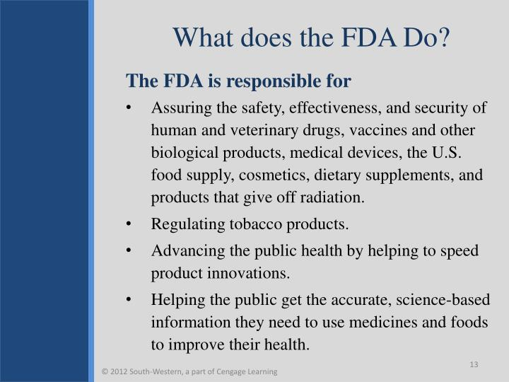 What does the FDA Do?