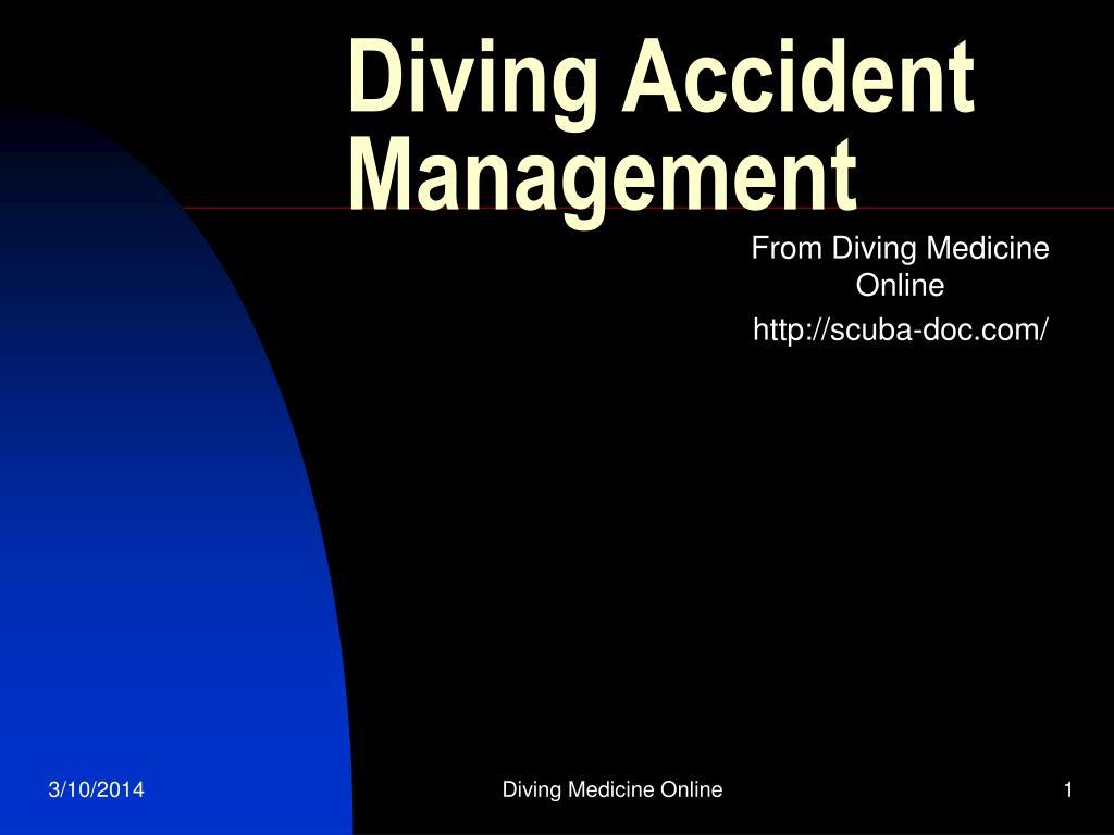 Diving Accident Management
