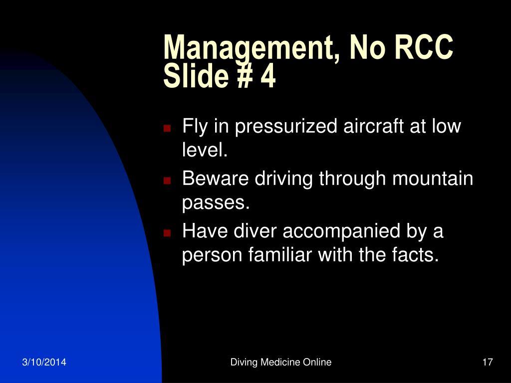 Management, No RCC Slide # 4