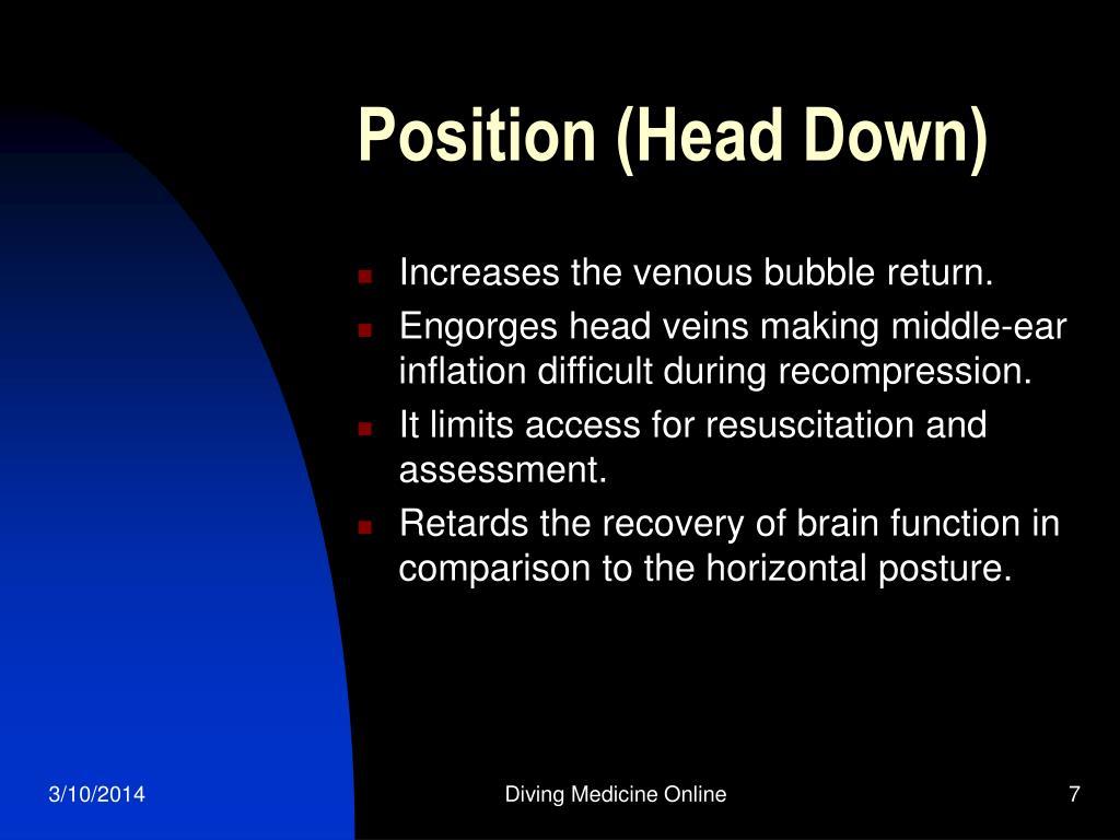 Position (Head Down)