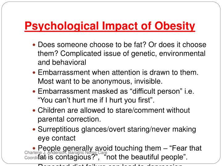 the impact of obesity on the Obesity is one of the nation's fastest-growing and most troubling health problems unless you act to address the emotions behind why you overeat, you could be facing long-term problems.