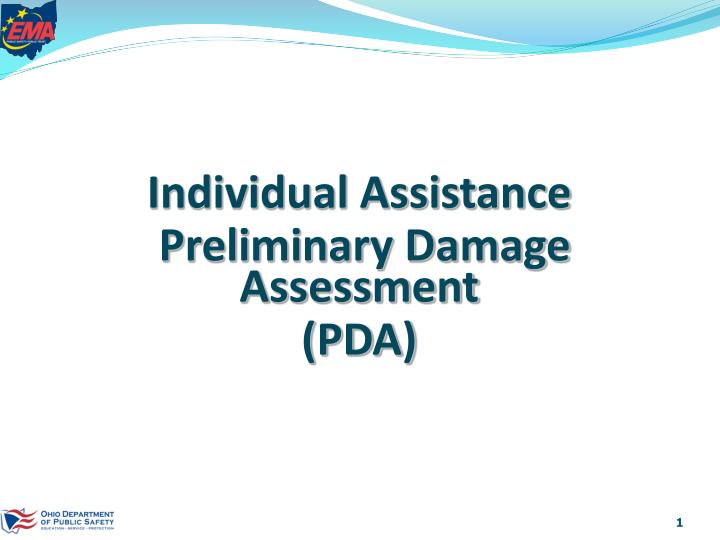 Individual assistance preliminary damage assessment pda