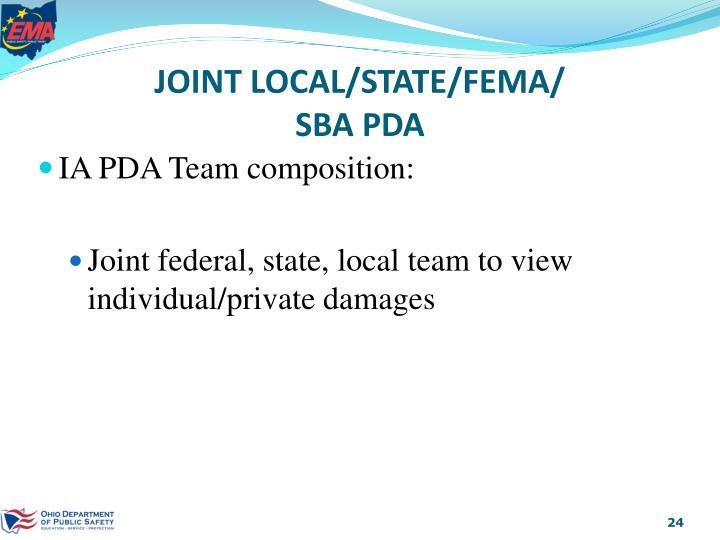 JOINT LOCAL/STATE/FEMA/