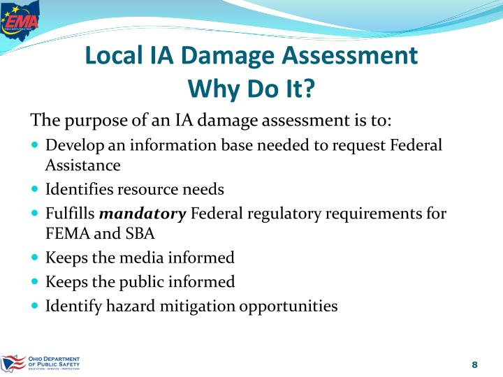 Local IA Damage Assessment