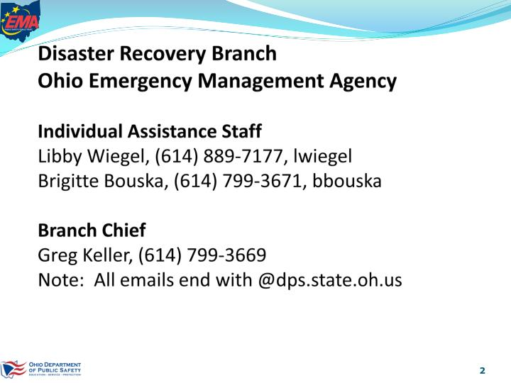 Disaster Recovery Branch