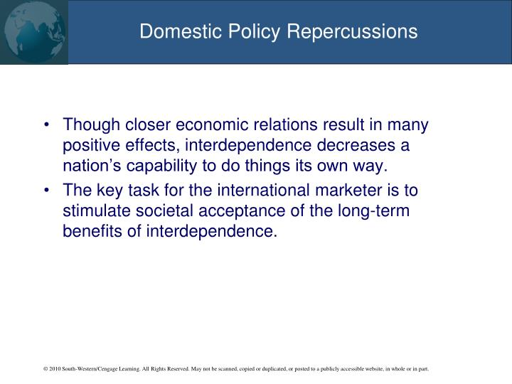Domestic Policy Repercussions