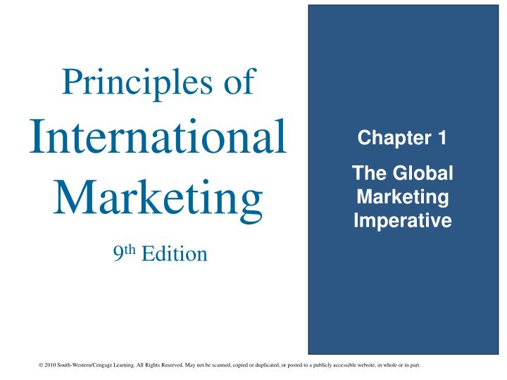 Chapter 1 the global marketing imperative
