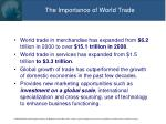 the importance of world trade
