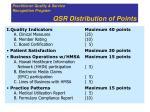 qsr distribution of points
