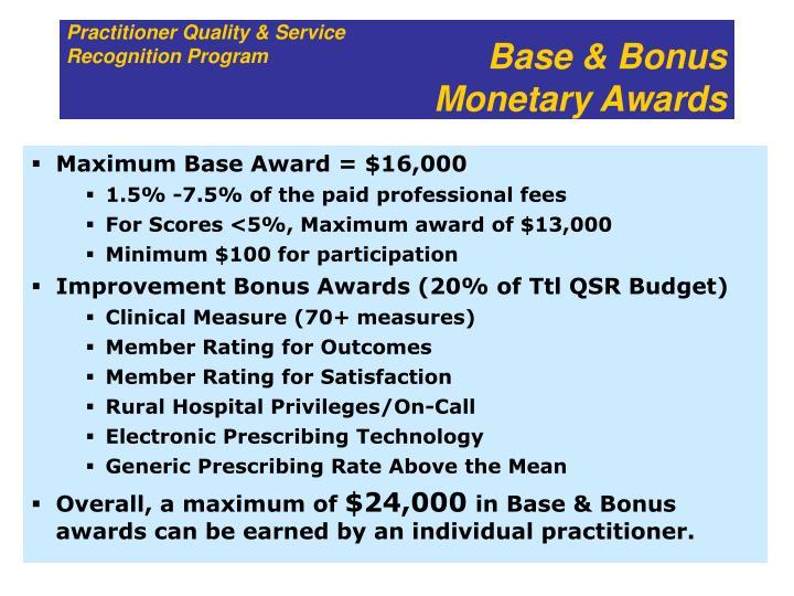 Base & Bonus