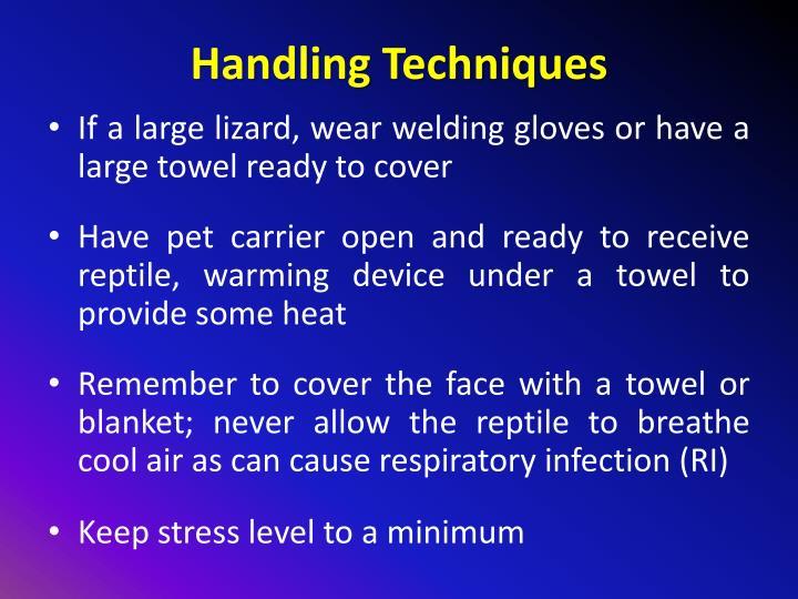 Handling Techniques