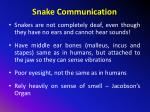 snake communication