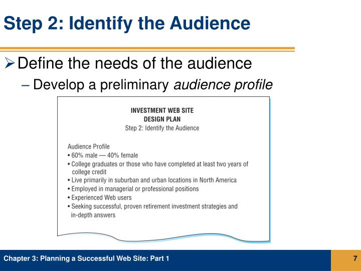 Step 2: Identify the Audience