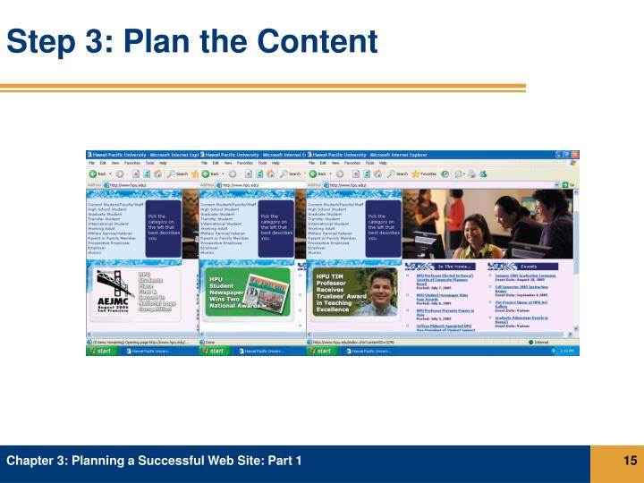 Step 3: Plan the Content