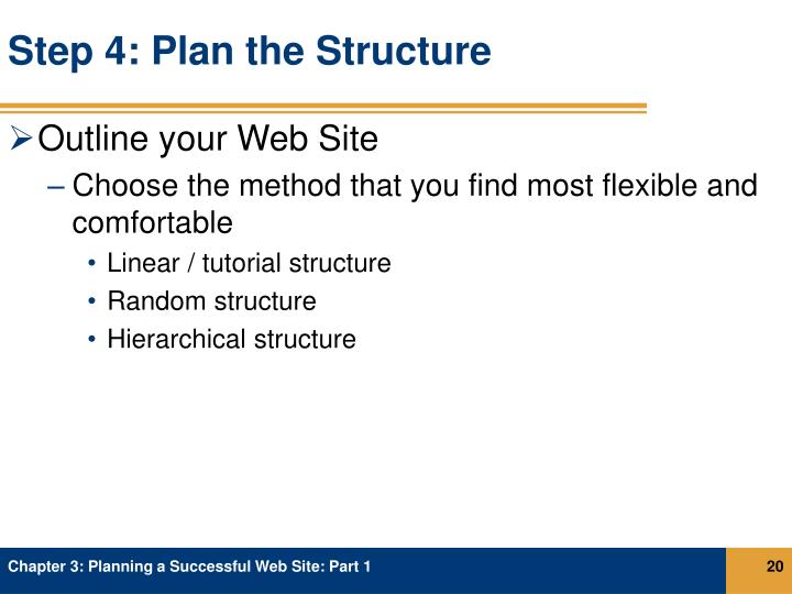 Step 4: Plan the Structure