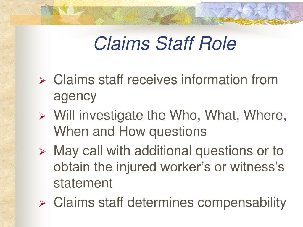 Claims Staff Role