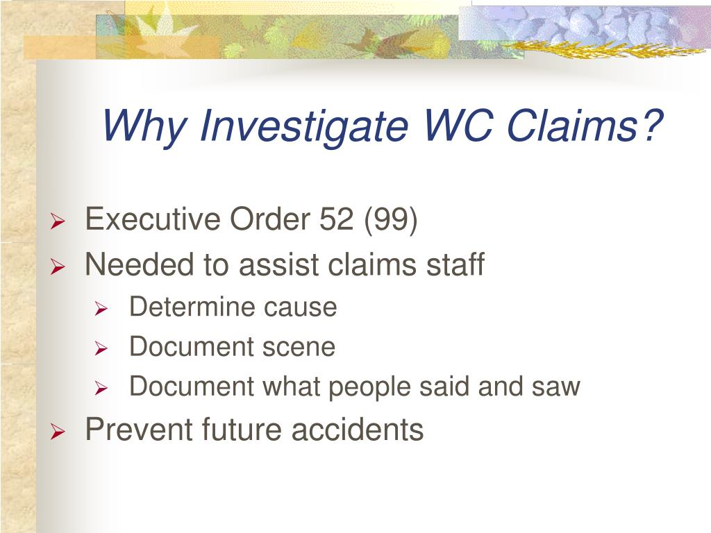 Why Investigate WC Claims?
