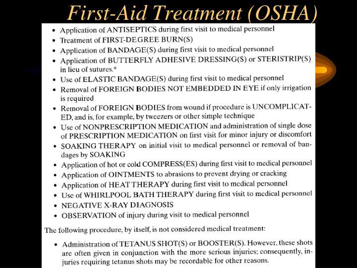 First-Aid Treatment (OSHA)