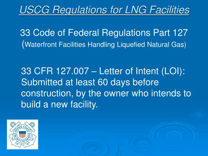 USCG Regulations for LNG Facilities
