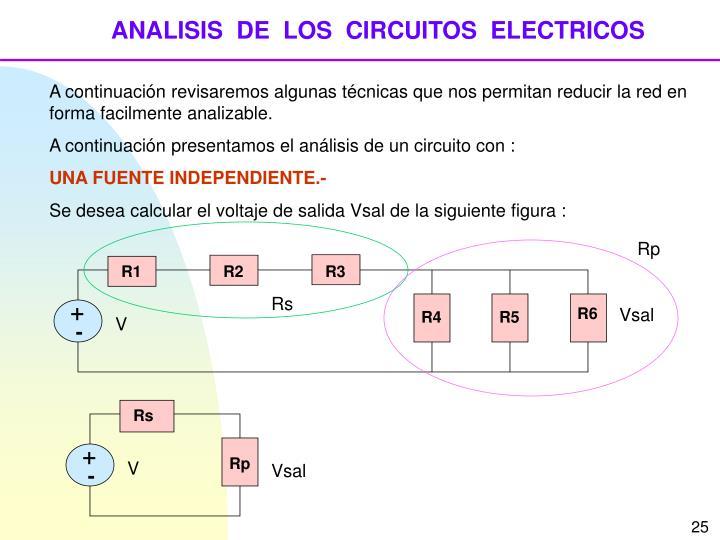 ANALISIS  DE  LOS  CIRCUITOS  ELECTRICOS