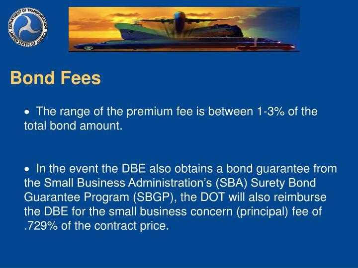 Bond Fees