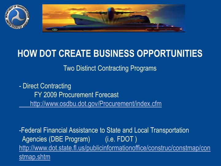 HOW DOT CREATE BUSINESS OPPORTUNITIES