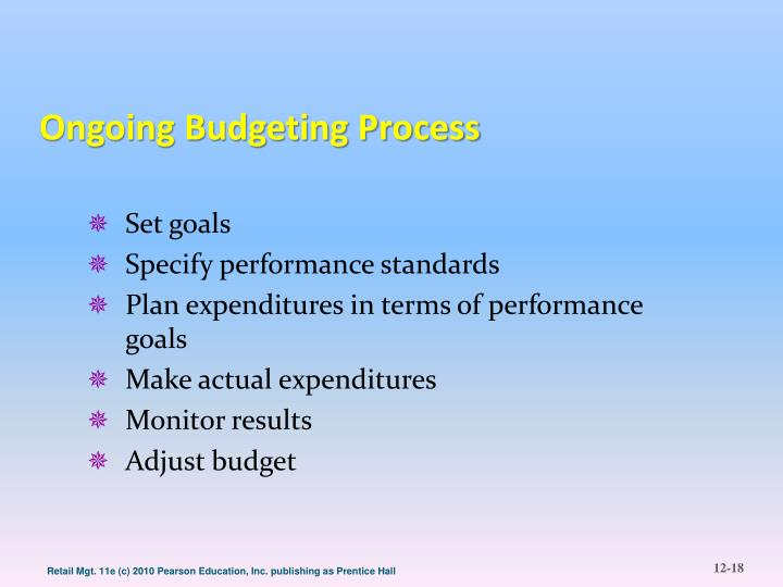 Ongoing Budgeting Process