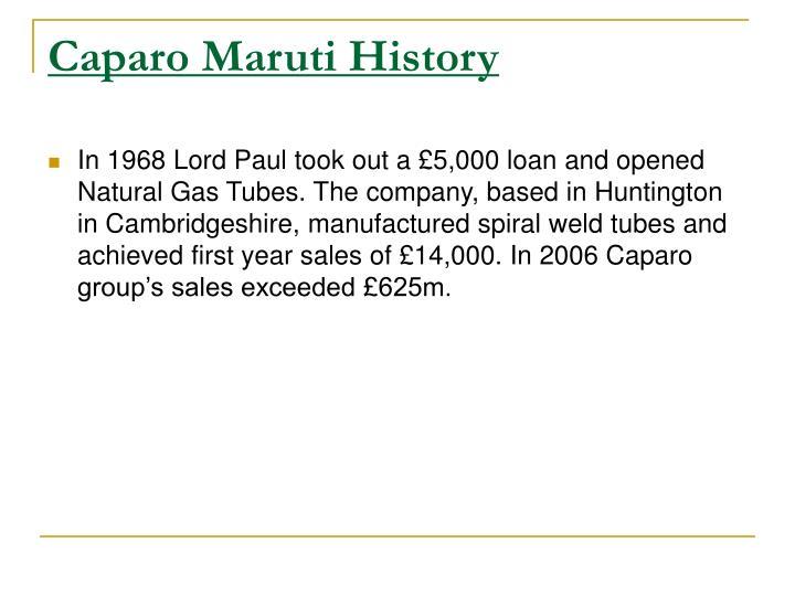 Caparo Maruti History