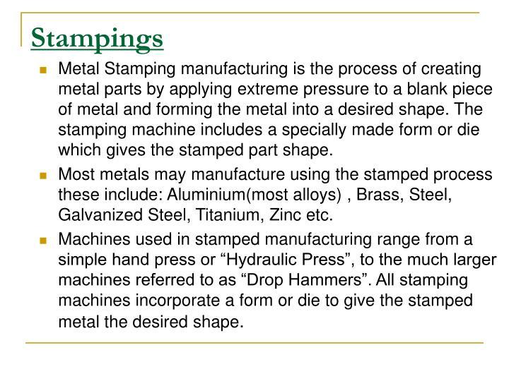 Stampings