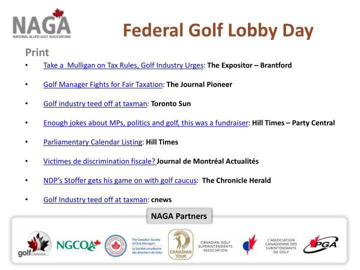 Federal Golf Lobby Day