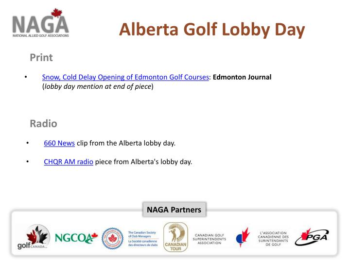 Alberta Golf Lobby Day
